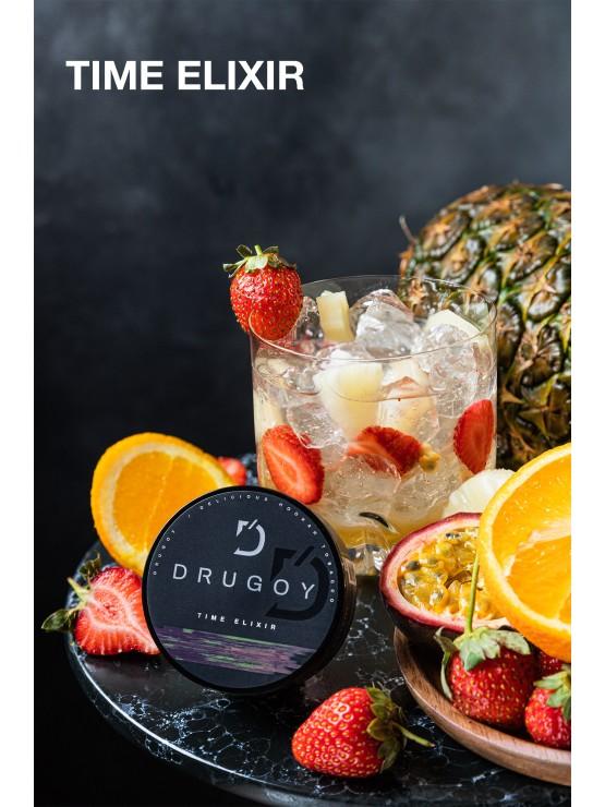 Табак Drugoy - Time Elixir (Клубника, маракуйя, ананас, апельсин) 100 грамм